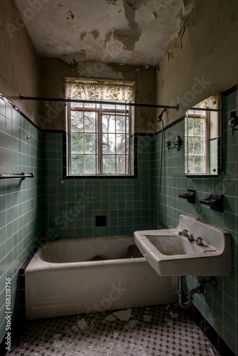 https stock adobe com images vintage green tiled bathroom with fixtures abandoned mansion 168318756 start checkout 1 content id 168318756