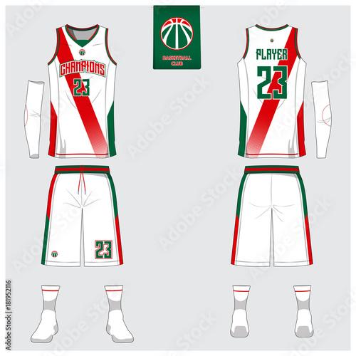 Download Basketball uniform template design. Tank top t-shirt ...