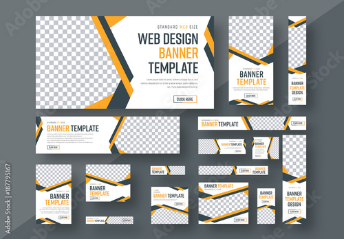 Web Banner Layout Set 3 Buy This Stock Template And Explore