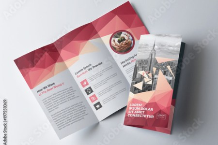 Tri Fold Brochure Layout with Geometric Accents  Buy this stock     Tri Fold Brochure Layout with Geometric Accents