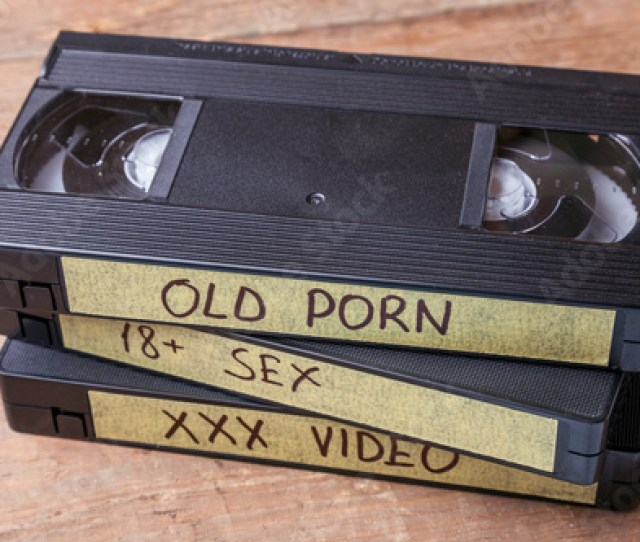 Old Videocassettes Vhs With Pornographic Films Xxx Movies For Adults