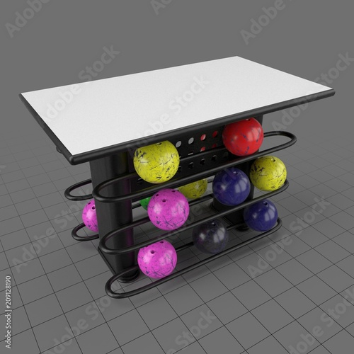 https stock adobe com 3d assets rectangular table with bowling ball rack 209128190 start checkout 1 content id 209128190