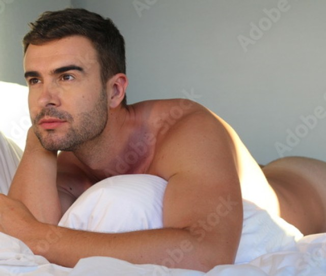 Handsome Man Naked In Bed Buy This Stock Photo And Explore