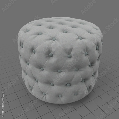 round ottoman buy this stock 3d asset