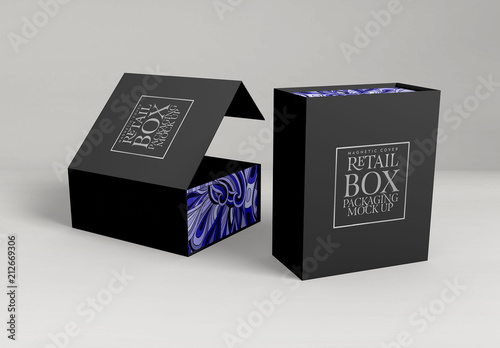 Download Gift Box Packaging Mockup. Buy this stock template and ...