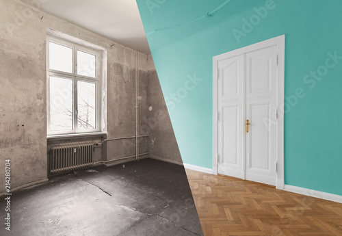 Flat Renovation Apartment Refurbishment Room Modernization Concept