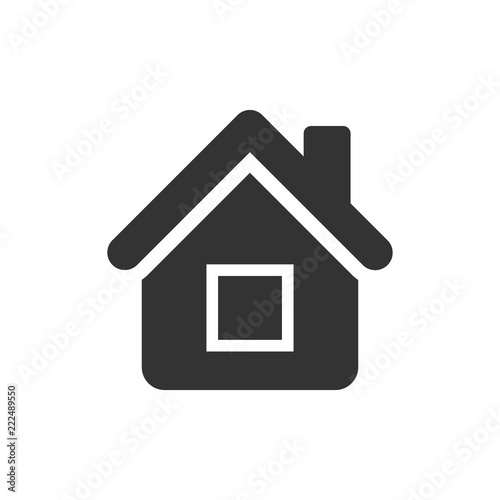 House Building Icon In Flat Style Home Apartment Vector Ilration On White Isolated Background