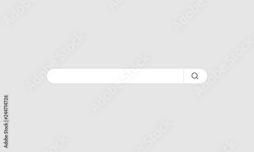 Search Bar Vector Isolated On Gray Background Search Bar For
