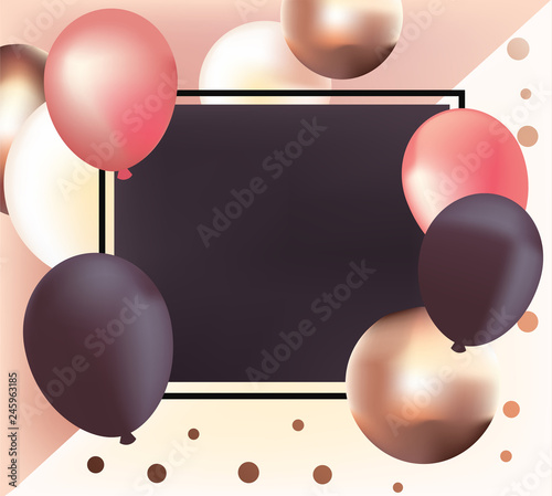 realistic glossy metallic balloons