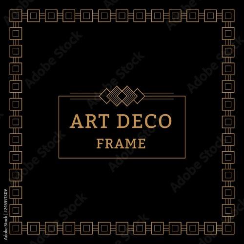art deco border frame template