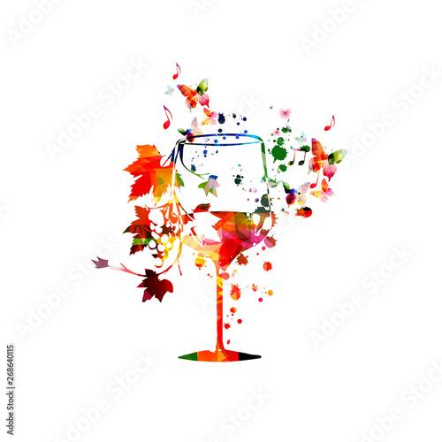vine background vector illustration