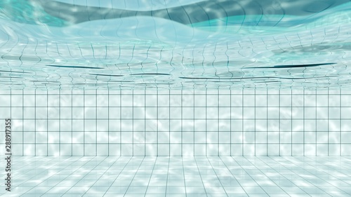 https stock adobe com images view of under water in white tiles swimming pool with bright light shines into water and make the caustic light shimmering on side of the pool 3d illustration 288917355 start checkout 1 content id 288917355
