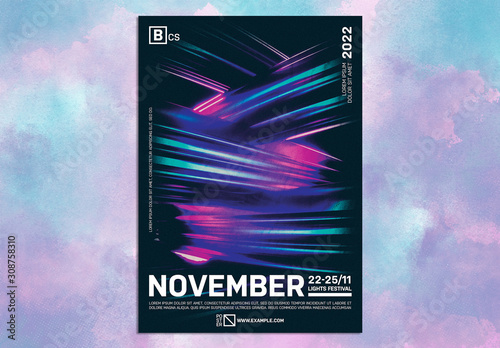 modern design event poster layout with