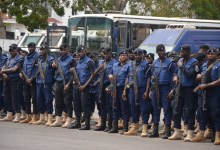 Armed Ghana military police