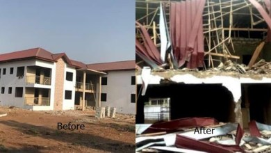Photo of Nigerian High Commission contractor: There was no warning before demolition of uncompleted building.