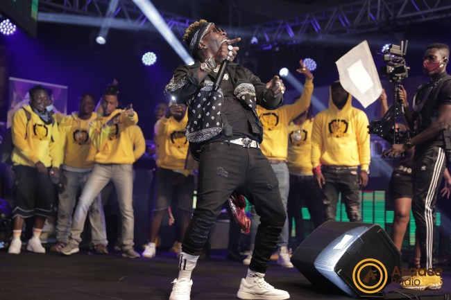 Shatta Wale and SM4LYFers at Sound Clash, 12.9.2020