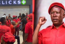 Julius Malema Economic Freedom Fighters close down Clicks