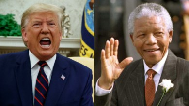 """Photo of Trump """"exposed"""" after allegedly making denigrating remarks about Nelson Mandela"""