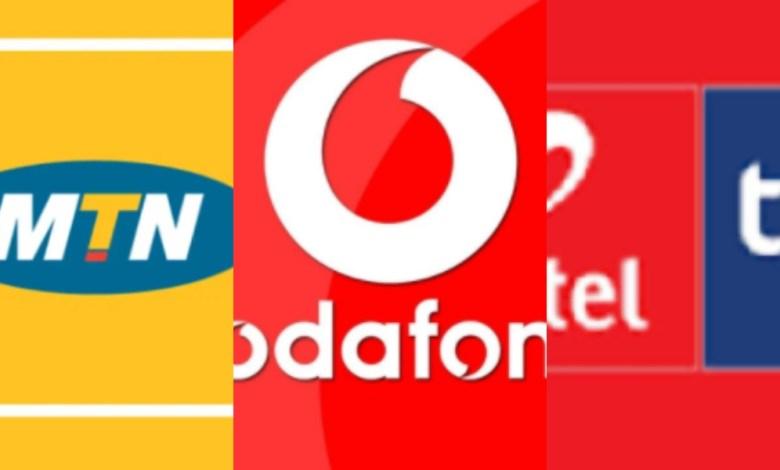 Mobile network providers' logos