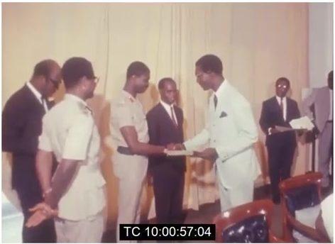 J A Kufuor, Akwasi Afrifa, K A Busia, circa 1969
