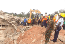 Photo of Rescue operation at the collapsed church building at Akyem Batabi ends