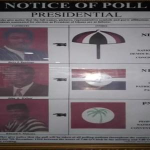 Election 1996 ballot paper
