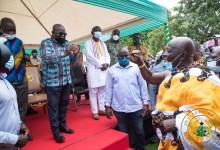 Okyenhene Osagyefuo Amoatia Ofori Panin and President Akufo-Addo