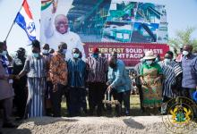Photo of President Akufo-Addo cuts sod for €15 million upper east solid waste treatment plant
