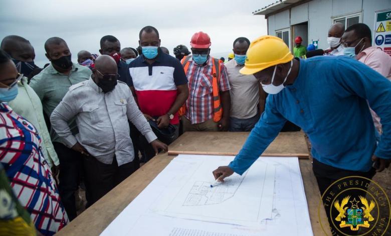 Akufo-Addo inspects plan for model SHS in Weija-Gbawe