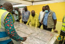 President Akufo-Addo gets a briefing on the Tema-to-Akosombo road