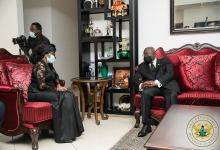 Akufo-Addo interacting with Nana Konadu Agyeman-Rawlings
