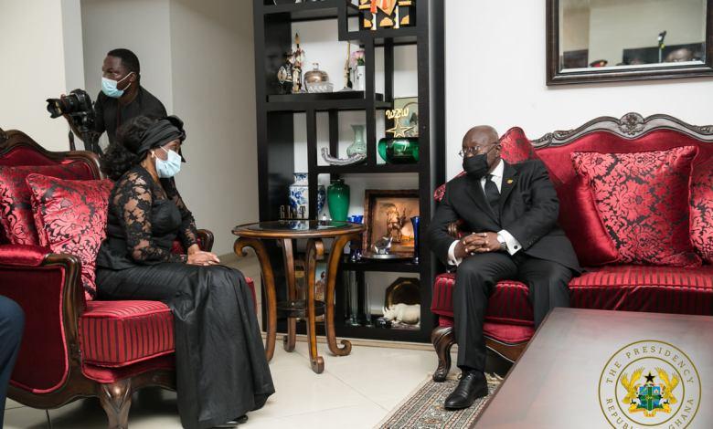 Akufo-Addo interacting with Nana Konadu Agyeman-Rawlings