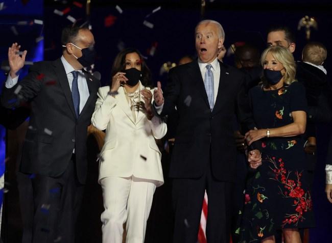 Douglas Emhoff, Kamala Harris, Joe and Jill Biden