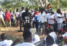 Gabby Asare Otchere-Darko addressing the NPP supporters