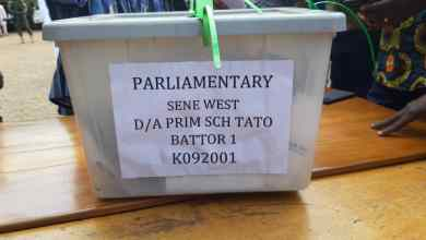 Sene West ballot box