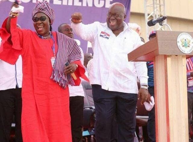 Akufo-Addo and Frema Opare