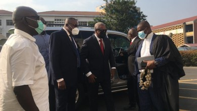 John Mahama with his legal team at the Supreme Court