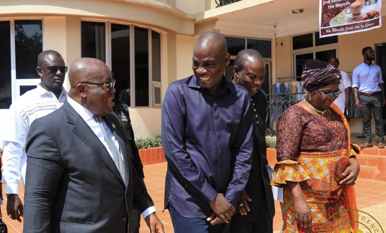 President Akufo-Addo in a chat with Haruna Iddrisu