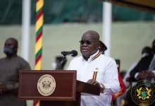 President Nana Addo Dankwa Akufo-Addo addressing the audience