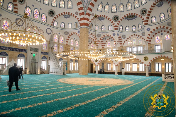 Inside the National Mosque Complex of Ghana