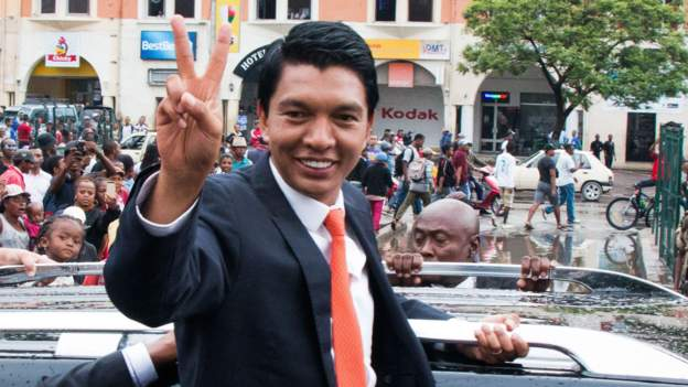 Andry Rajoelina was sworn in as president in 2019