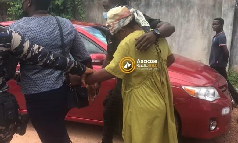 Josephine Panyin Mensah Simons, the Takoradi woman, leaves court + Asaase logo