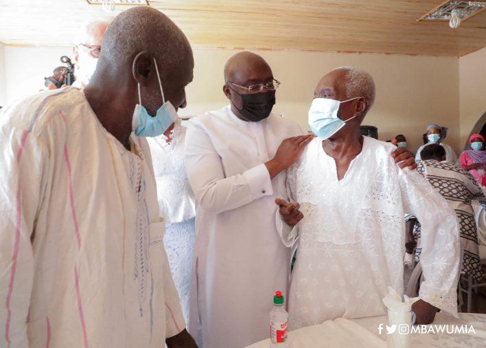 Dr Bawumia at the Leprosarium