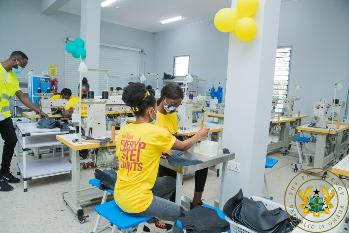 The shoe manufacturing factory