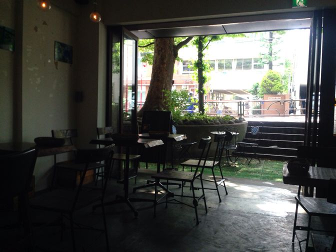 ケヤキカフェのテラス
