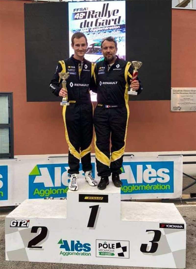 Podium du rallye du Gard 2021 avec Raphaêl MARRY et Alexis MAGAND sur Alpine RGT