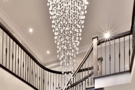 Chandelier Installation Hanging