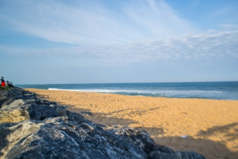 clean beaches and waters of Keta