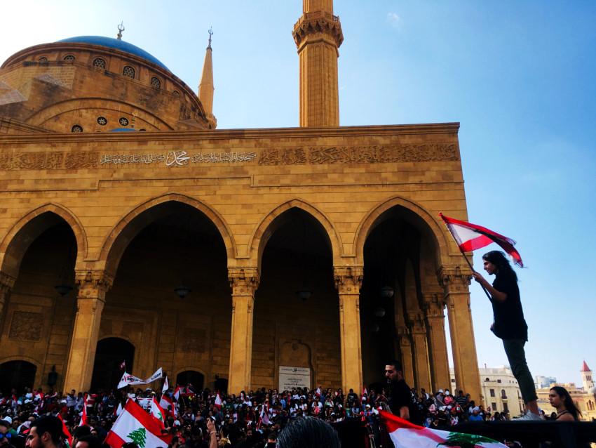 Manifestación Beirut