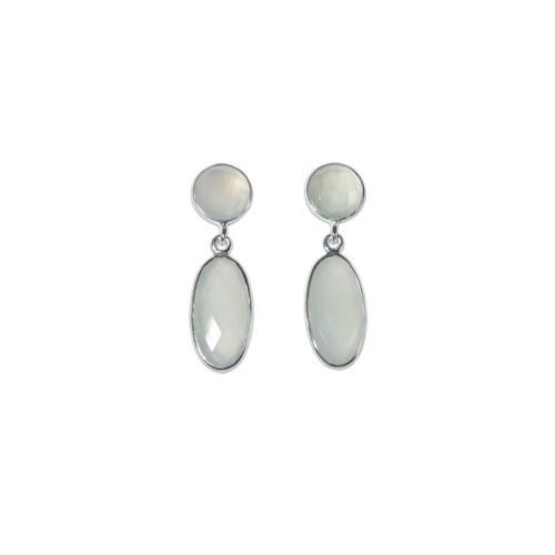 Örhängen - Linnea Silver Blanc